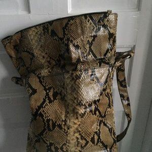Bucket Flip-Over Python Bag